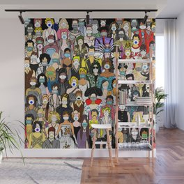 Face Mask Party Wall Mural