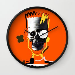 No.1 - Beauty isn't only skin deep / b-ART / ORANGE Wall Clock