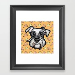 Peter loves pizza and cheese Framed Art Print