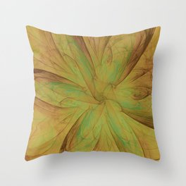 Fall Blossom Fractal Throw Pillow