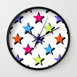 Pop Star - White background - Pattern Wall Clock