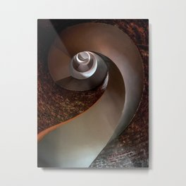 Spiral staircase in an old lighthouse Metal Print