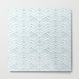 "Turquoise zebra pattern ""Sebrina"" Metal Print"