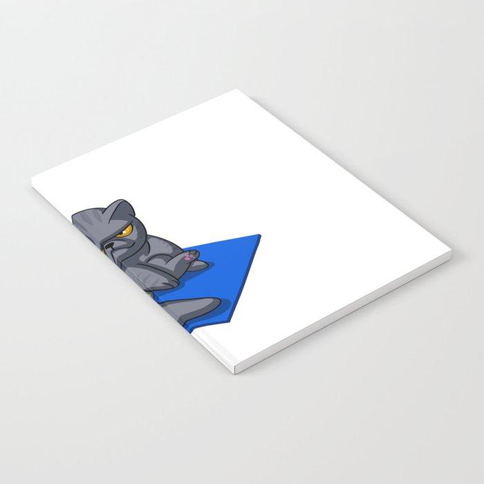 Yoga cat - Angry cat - grey cat - fat cat Notebook