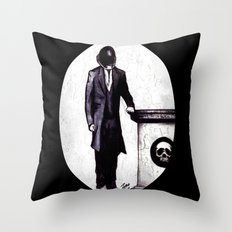 Life's Course You Flunk, Compute and Cyberpunk Throw Pillow