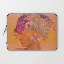 Woman in flowers III Laptop Sleeve