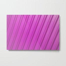 Stripes II - Hot Pink Metal Print