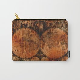 Rustic Old World Map Carry-All Pouch
