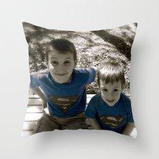 SUPER BOYS!! Throw Pillow
