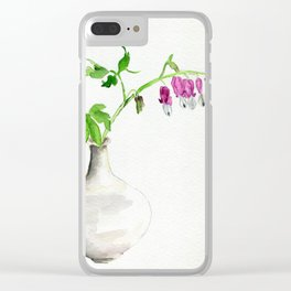 Hearts Bleeding Clear iPhone Case