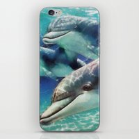 dolphin iPhone & iPod Skins featuring Dolphin by A.Aenska-Cholpanova