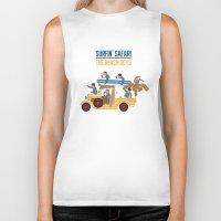 safari Biker Tanks featuring Surfin Safari by DWatson