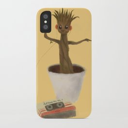 Baby Groot Dancing with Awesome Mix Vol. 1 ~ iPhone Case