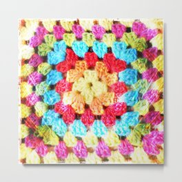 Crochet rainbow Metal Print