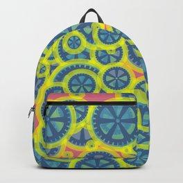 Random blue gearwheels Backpack