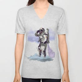 Dreamer - Astronaut on Cloud Unisex V-Neck
