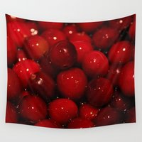 cooking Wall Tapestries featuring Photo of Cooking Cranberries by Griffing Designs, LLC
