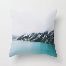 Turquoise water Throw Pillow