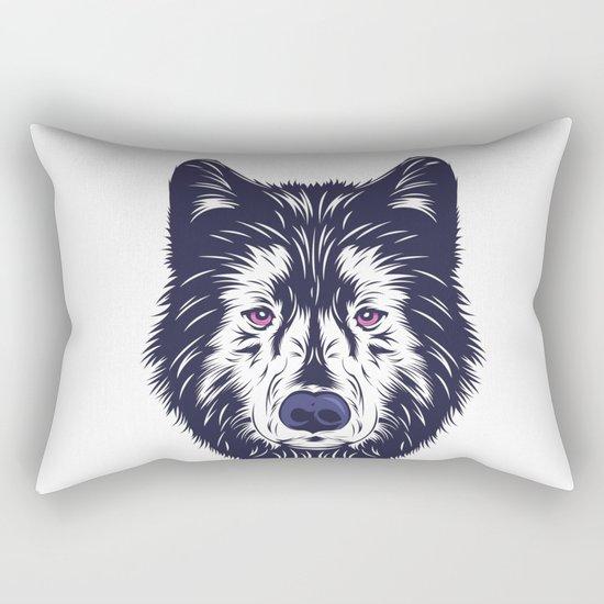 Blue wolf Rectangular Pillow