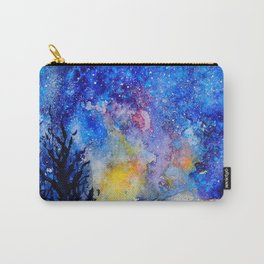 Midnight Galaxy Road watercolour by CheyAnne Sexton Carry-All Pouch