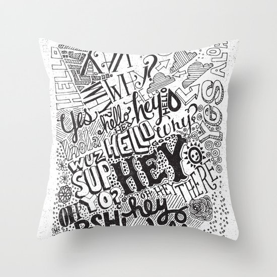OH HEY Throw Pillow