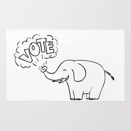 White Elephant Vote Drawing Rug
