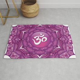 Crown Chakra Mandala #07 Rug