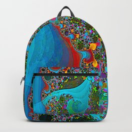 Abstract Topography Backpack