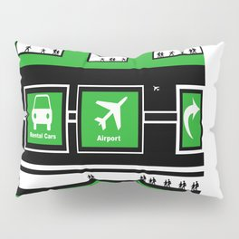 Busy Airport Pillow Sham