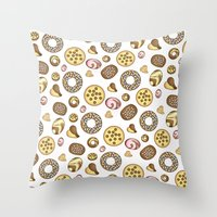 cookies Throw Pillows featuring Cookies ♥ by Martina Marzullo Art