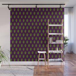Hops Dark Purple Pattern Wall Mural