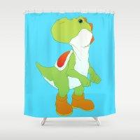 yoshi Shower Curtains featuring Yoshi by bloozen