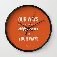Us and Them: Chief Seattle Wall Clock