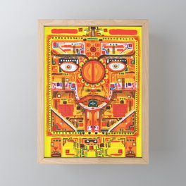 Kan Yellow Seed Framed Mini Art Print