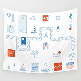 Casa de playa Wall Tapestry