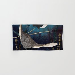Metallic Stingray Hand & Bath Towel