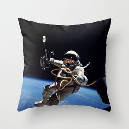 Astronaut : First American Spacewalk 1965 Throw Pillow