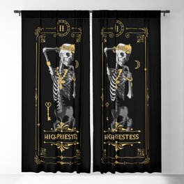 High Priestess II Tarot Card Blackout Curtain