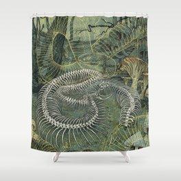 Green Bone Shower Curtain