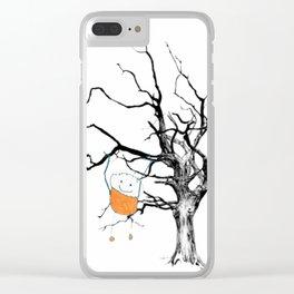 Boy Orange just hanging around Clear iPhone Case