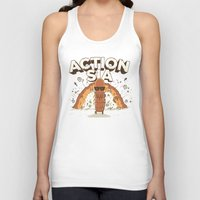 sia Tank Tops featuring Action Sia by Farid L