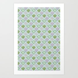 Echeveria pattern Art Print