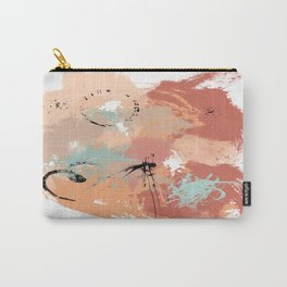 Unrestrained, Abstract Art Brushstrokes Carry-All Pouch
