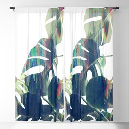 Magic Monstera Leaves Blackout Curtain