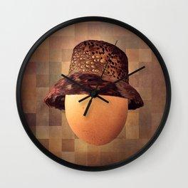 Vintage Egg in Fine Pheasant Cloche Wall Clock