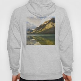 Canada's Magnificent Bow Lake With Majestic Mountain Reflections Hoody