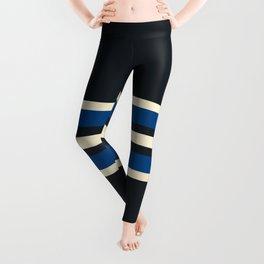Ashinagatenaga - Classic Vintage Style Retro Stripes Leggings