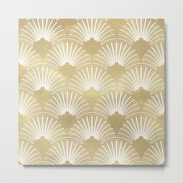 Gold foil look Art-Deco pattern Metal Print