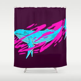 Trippy Whale Shower Curtain
