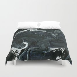 Dark Pegasus Duvet Cover
